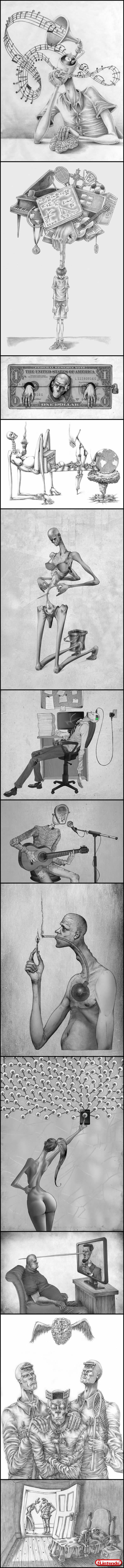 Verdades Sobre a Sociedade Ilustrada Em Desenhos